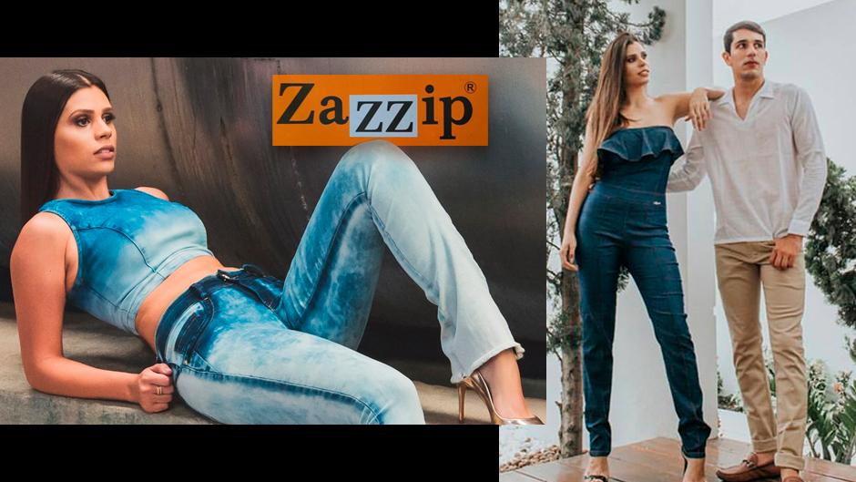 Zazzip moda jeans atacado